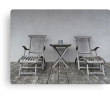 Lounge Chairs Canvas Print