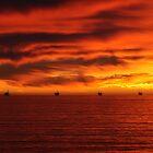 Sunset on New Year's Day; Carpinteria, California by MichelleRhea