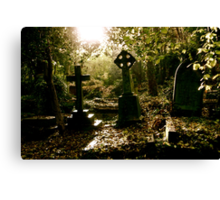 Tombstones in Highgate Cemetery (West) Canvas Print