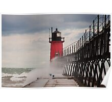 South Haven, Michigan Lighthouse-1  Poster