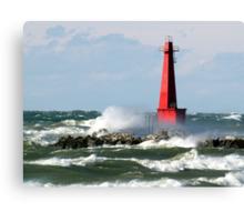 The Churning Lake Michigan Canvas Print
