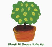 Green Side Up shirt by Betty Mackey