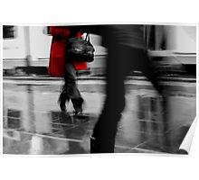 Red Jacket- Melbourne city Poster