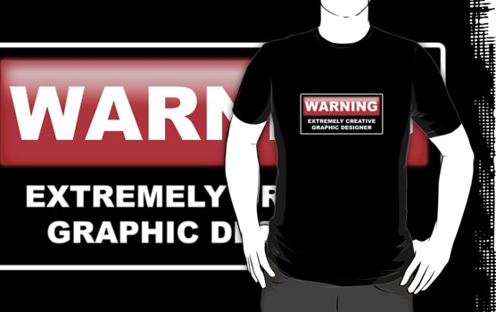 Graphic Designer Warning by Yiannis  Telemachou