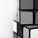 Rubik's Cube B&W by Katie Batchelor