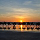 Ships of the Desert, Cable Beach 1 by Karina  Cooper