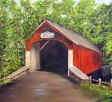 Knecht's Covered Bridge by Loretta Luglio