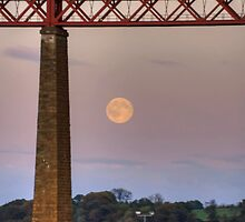 The train flew over the Moon by Tom Gomez