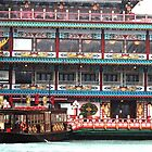 Hong Kong Harbour - Floating Restuarant by Deb Gibbons