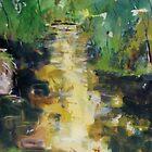 King Parrot Creek - Fishing - Strath Creek, Vic, Australia by Margaret Morgan (Watkins)