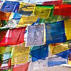 Prayer Flags, Bhouda, Kathmandu by AlliD