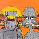 """Ned Kelly's Old Mate Emu"" Original Australian SOLD by EJCairns"