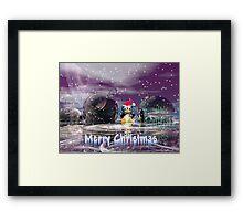 Penguin's Merry Christmas Framed Print