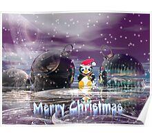 Penguin's Merry Christmas Poster