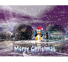 Penguin's Merry Christmas Photographic Print