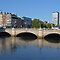 dublin city skyline by o'connell bridge by upthebanner
