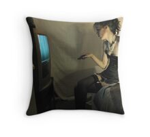 What She Does Once He Is Safely Bound and Blindfolded (ltd ed) Throw Pillow
