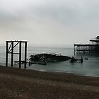 Misty West Pier - Brighton by skphotography