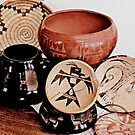 Native American Pottery and Basket by redhawk