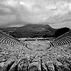 Amphitheatre of rain, Segesta, Sicily by Andrew Jones