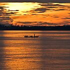 Golden Mekong Sunset by Anthony and Kelly Rae