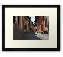 Hurrying home for lunch Framed Print