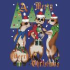 Merry Meerkat Christmas Shirt by Lotacats