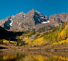 The Maroon Bells In Fall by Greg Summers