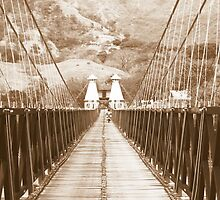 Puente de Occidente in Sepia for a Challenge by Esperanza Gallego