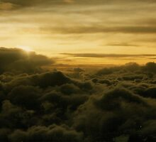 Golden Clouds As Seen From Above by Shannon Guest