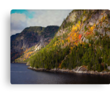 A Little Red ~ Saguenay River Canvas Print