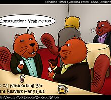 Beavers Networking by Londons Times Cartoons by Rick  London