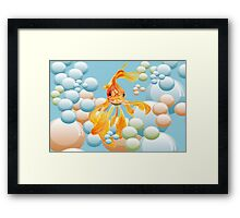 Blowing Bubbles Framed Print