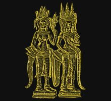 T-SHIRT: 2 Apsaras (GOLD) by Brad Spencer