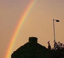 Holmfirth rainbow over the house of ivy by BoboFrett