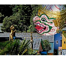 Burmese dancers at Portmeirion, Wales, UK Photographic Print