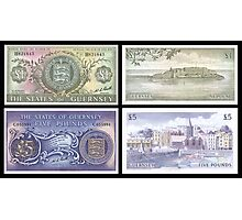 Old Guernsey Banknotes Photographic Print