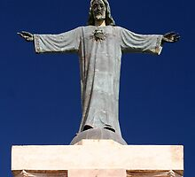Statue of Christ, Monte Toro, Menorca  by stuartmac