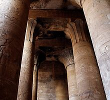 Edfu temple columns by Tony Roddam