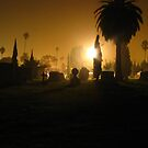 Midnight at the Hollywood Forever Cemetery by Jennifer  Gaillard