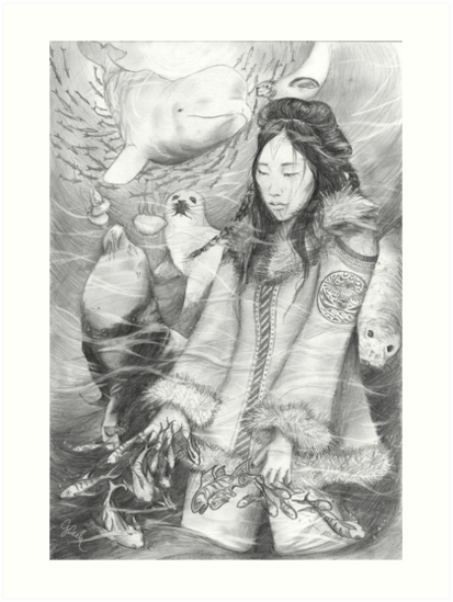 Sedna - the Inuit Sea Goddess by Genevieve  Cseh