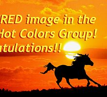 Congrats banner for Fiery Hot Colors Group by Michele Simon