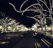 City Lights - Unter den Linden  by Bluemeaway