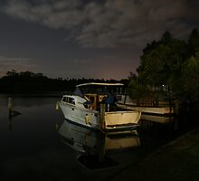 Boats in the Moonlight by aussiebushstick