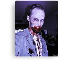 Smile, Mr. Zombie Canvas Print