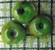 Ode to Granny Smith 3 apples by Mary  Hughes