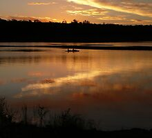 Kayak at Dusk, Lake Boondooma by aussiebushstick
