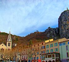 Deux Eglises, Castellane, France by Al Bourassa