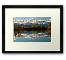 Reflections of Longs Peak, Colorado Framed Print
