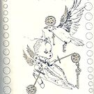 Eternally Ravenous - sketchbook Inside cover by scallyart